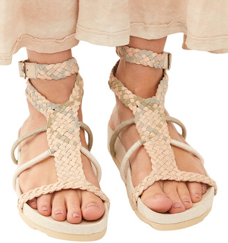 Free People Women's Sandals NATURAL - Natural Denali Woven Suede Sandal - Women