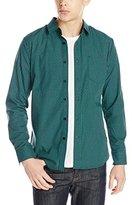 Volcom Men's Everett Mini Check Long Sleeve Shirt