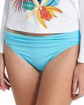 Tommy Bahama Shirred Hipster Sash Solid Swim Bottom, Blue