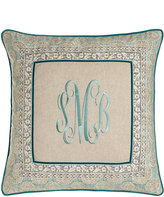 "Legacy Essex Monogrammed Pillow, 20""Sq."