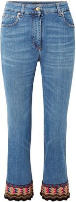 Etro Embellished High-rise Kick-flare Jeans
