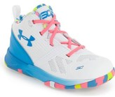 Under Armour 'Curry 2' High Top Sneaker (Baby, Walker & Toddler)