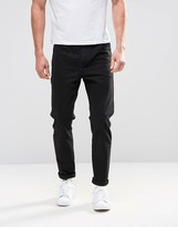 Asos Tapered Jeans In Black