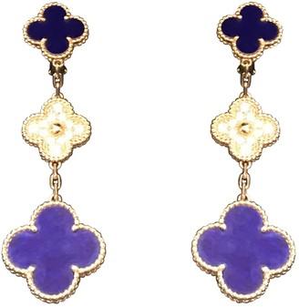 Van Cleef & Arpels Magic Alhambra Blue Yellow gold Earrings