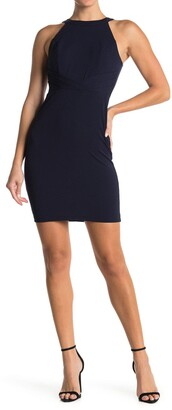 Love, Nickie Lew Halter Neck Pleated Bodycon Dress
