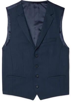 HUGO BOSS Navy Ben Slim-Fit Virgin Wool Waistcoat