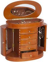 Asstd National Brand Mele & Co. Trinity Burlwood Walnut Finish Jewelry Box