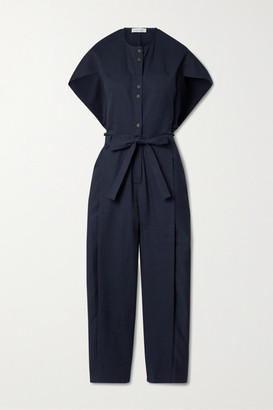 Palmer Harding palmer//harding - Leston Striped Cotton-blend Jumpsuit - Navy