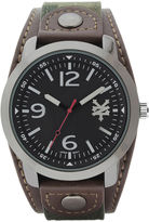 Zoo York Mens Brown Camouflage And Black Strap Watch