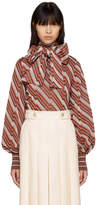 Gucci Multicolor Lurex Bow Blouse