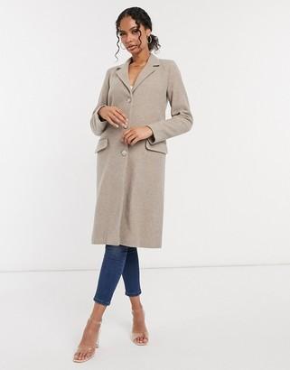 Helene Berman button down college coat in grey