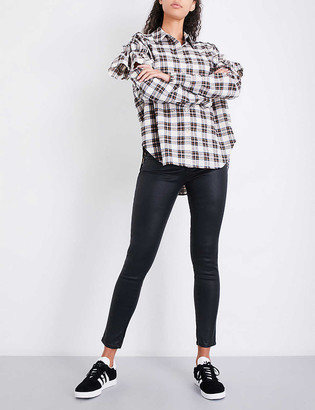 AG Jeans Legging Ankle leather-look super-skinny mid-rise jeans