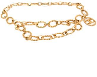 Charm & Chain CC logo charm chain belt