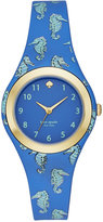 Kate Spade Women's Rumsey Blue and Mint Splash Seapony Print Silicone Strap Watch 30mm KSW1109