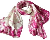 Chanel Pink Wool Scarves