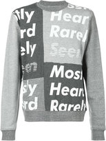 Mostly Heard Rarely Seen logo print sweatshirt - men - Cotton/Lyocell - S