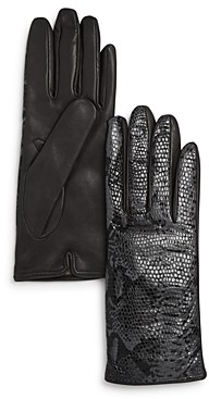 Bloomingdale's Python Printed Leather Gloves - 100% Exclusive