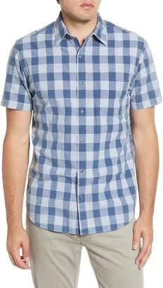 Faherty Ventura Regular Fit Check Short Sleeve Button-Up Sport Shirt