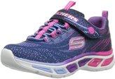 Skechers Girl's Skechers, S Lights Litebeams Slip on Sneaker NAVY MULTI 11 M