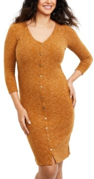 A Pea in the Pod Maternity Nursing Button-Front Dress