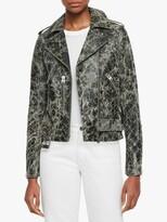 AllSaints Balfern Leather Biker Jacket ShopStyle