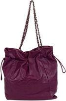 One Kings Lane Vintage Chanel Purple Caviar Shoulder Bucket Bag