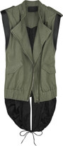Contrast back cotton-canvas vest