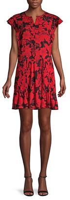 Rebecca Minkoff Floral-Print Mini Swing Dress
