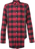 Mostly Heard Rarely Seen zipped detailing plaid shirt - men - Cotton - XXL