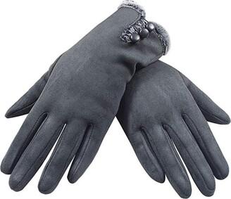 Mingoo Ladies Super Soft Warm Touch Screen Winter Gloves (gray)(Size:M)