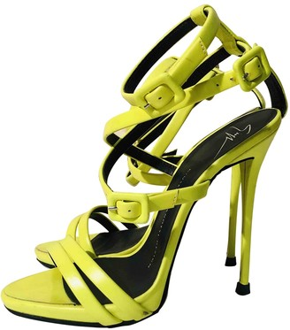 Giuseppe Zanotti Yellow Leather Sandals