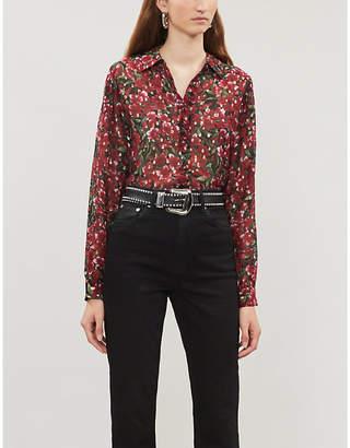 The Kooples Floral-print crepe shirt