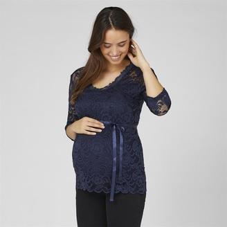 Mama Licious Mamalicious Womens Mivana 3/4 Sleeve Top Navy Blazer