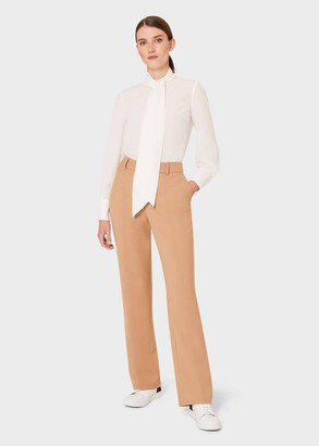 Hobbs Laurel Wool Blend Straight Trousers With Stretch