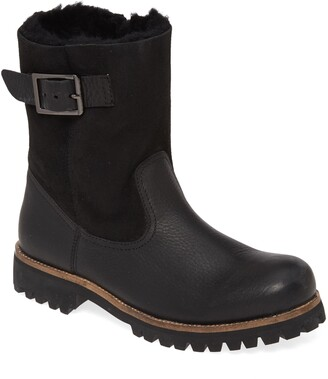 Blackstone OL05 Moto Boot with Genuine Shearling Lining