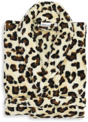 Linum Home Textiles Plush Luxurious Soft Leopard Print Robe, Large/Xla