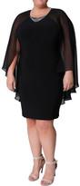 Eve Hunter Cape Shoulder Short Dress