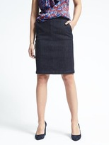 Banana Republic Bi-Stretch Denim Pencil Skirt