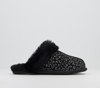 UGG Scuffette Ii Slippers Snow Leopard Black