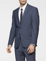 Calvin Klein Body Slim Fit Blue Chambray Suit Jacket