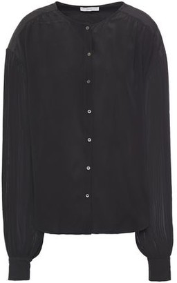 Joie Kevia Gathered Silk-georgette Shirt