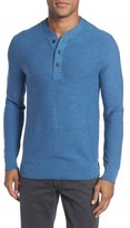 Bonobos Men's Slim Fit Merino Long Sleeve Henley Sweater