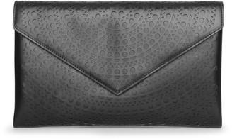 Alaia Oum nude leather envelope clutch