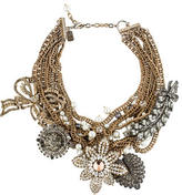 Badgley Mischka Multistrand Embellished Flower Necklace