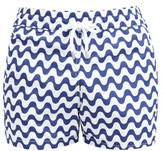 Frescobol Carioca Sidewalk Wave-print Swim Shorts - Mens - Navy