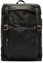 Saint Laurent Men's Tuscany Washed Leather Hunter Backpack In Black