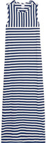Iris and Ink Striped Cotton Maxi Dress