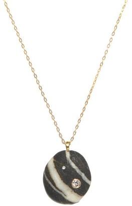 Cvc Stones Chai Diamond & 18kt Gold Necklace - Black White