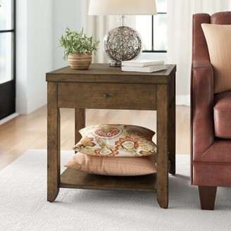 Three Posts Bleckley End Table with Storage