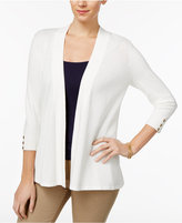 Charter Club Honeycomb-Stitch Open-Front Cardigan, Only at Macy's